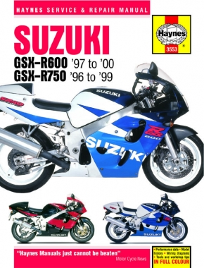 Suzuki GSX-R600 & 750 (96 - 00) Haynes Repair Manual