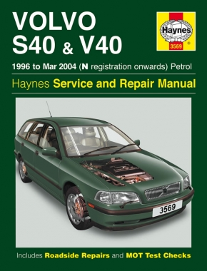 Volvo S40 & V40 Petrol (96 - Mar 04) Haynes Repair Manual