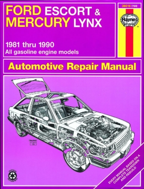 Ford Escort & Mercury Lynx (1981-1990) for all petrol engines inc. EFI & Turbo Haynes Repair Manual (USA)