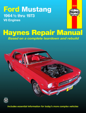 Ford Mustang, Mach 1, GT, Shelby, & Boss V-8 (1964-1973) Haynes Repair Manual (USA)