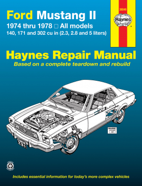 Ford Mustang II (1974-1978) 4-cylinder, V6 & V8 Haynes Repair Manual (USA)