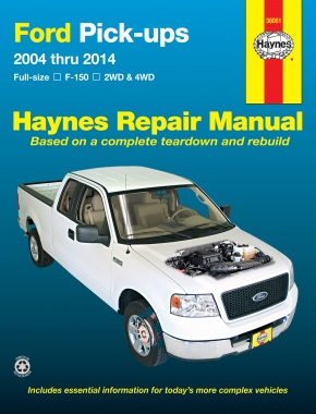 Ford full-size petrol pick-ups F-150 2WD & 4WD (2004-2014) Haynes Repair Manual (USA)