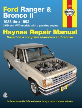 Ford Ranger & Bronco II 2WD & 4WD petrol (1983-1992) Haynes Repair Manual (USA)