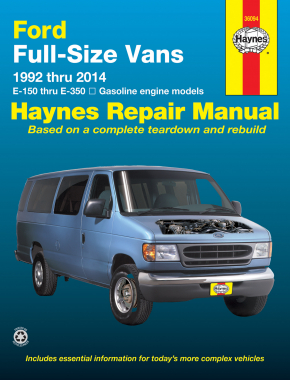 Ford full-size E-150-E-350 petrol vans (1992-2014) Haynes Repair Manual (USA)