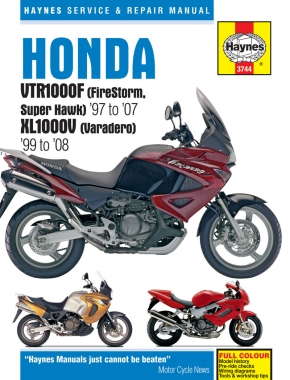 Honda VTR1000F (FireStorm, Super Hawk) (97 - 07) & XL1000V (Varadero) (99 - 08) Haynes Repair Manual
