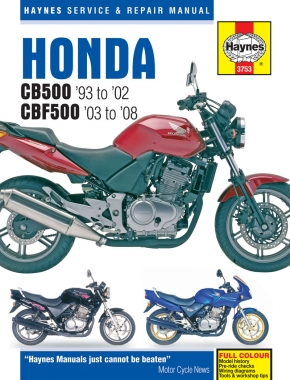 Honda CB500 (93 - 02) & CBF500 (03 - 08) Haynes Repair Manual