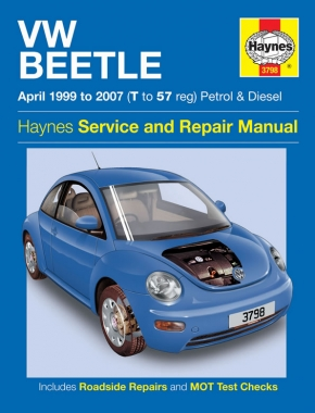VW Beetle Petrol & Diesel (Apr 99 - 07) Haynes Repair Manual