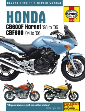 Honda CB600F Hornet & CBF600 (98 - 06) Haynes Repair Manual