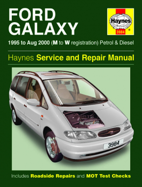 Ford Galaxy Petrol & Diesel (95 - Aug 00) Haynes Repair Manual