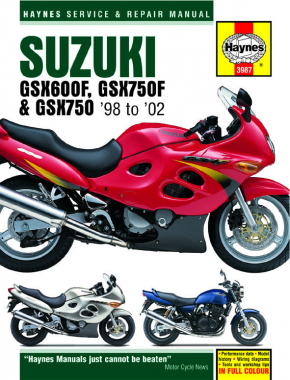 Suzuki GSX600/750F & GSX750 (98 - 03) Haynes Repair Manual