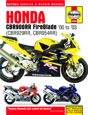 Honda CBR900RR FireBlade (00 - 03) Haynes Repair Manual