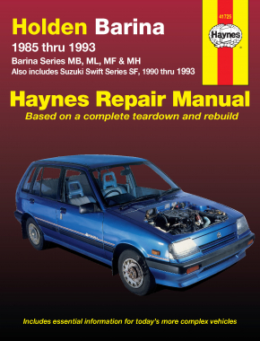 Holden Barina and Suzuki Swift (85-93) Haynes Repair Manual