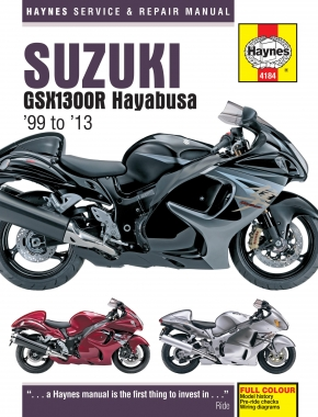 Suzuki GSX1300R Hayabusa (99 - 13) Haynes Repair Manual