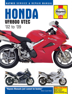 Honda VFR V-Tec V-Fours (02 - 09) Haynes Repair Manual