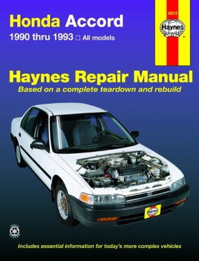 Honda Accord (1990-1993) Haynes Repair Manual (USA)