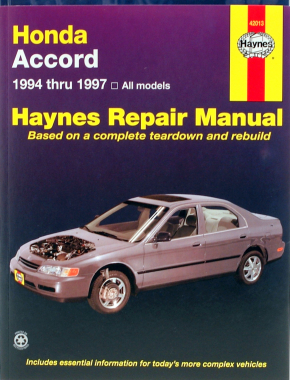 Honda Accord (1994-1997) Haynes Repair Manual (USA)