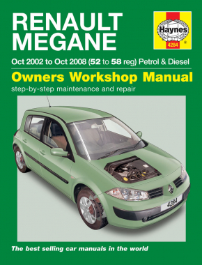 Renault Megane Petrol & Diesel (Oct 02 - 08) Haynes Repair Manual