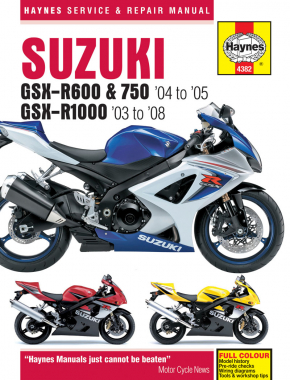Suzuki GSX-R600/750 (04 - 05) & GSX-R1000 (03 - 08) Haynes Repair Manual