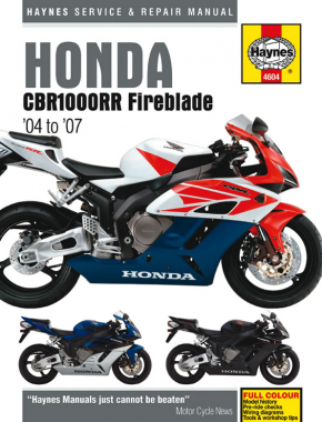 Honda CBR1000RR Fireblade (04 - 07) Haynes Repair Manual