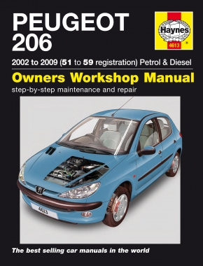 Peugeot 206 Petrol & Diesel (02 - 09) Haynes Repair Manual