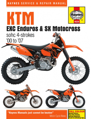 KTM EXC Enduro & SX Motocross (00 - 07) Haynes Repair Manual