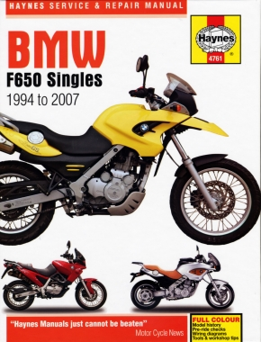 BMW F650 Singles (94 - 07) Haynes Repair Manual