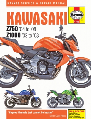 Kawasaki Z750 & Z1000 (03 - 08) Haynes Repair Manual