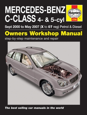 Mercedes-Benz C-Class Petrol & Diesel (Sept 00 - May 07) Haynes Repair Manual