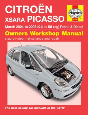 Citroen Xsara Picasso Petrol & Diesel (Mar 04 - 08) Haynes Repair Manual