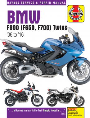 BMW F650, F700 & F800 Twins (06-16) Haynes Repair Manual