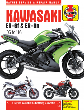 Kawasaki ER-6f & ER-6n (06 - 16) Haynes Repair Manual