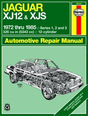 Jaguar XJ12 & XJS (inc. XJSC Cabriolet, Series 1,2 & 3) (1972-1985) Haynes Repair Manual (USA)