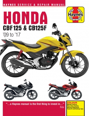 Honda CBF125 (09 - 17) Haynes Repair Manual