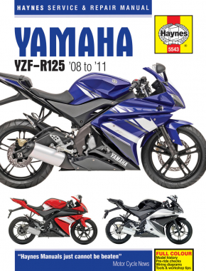 Yamaha YZF-R125 (08 - 11) Haynes Repair Manual
