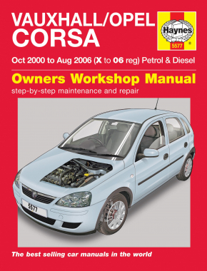 Vauxhall/Opel Corsa Petrol & Diesel (Oct 00 - Aug 06) Haynes Repair Manual