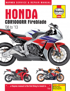 Honda CBR1000RR Fireblade (08 - 13) Haynes Repair Manual