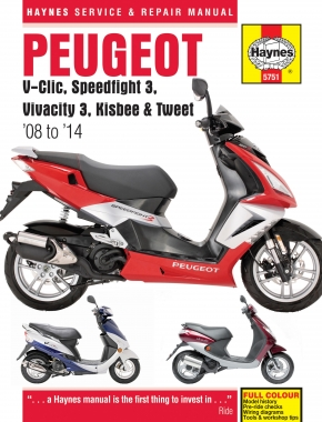 Peugeot V-Clic, Speedfight 3, Vivacity 3, Kisbee & Tweet (08 - 14) Haynes Repair Manual