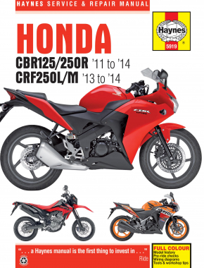 Honda CBR125R, CBR250R & CRF250L/M (11 - 14) Haynes Repair Manual