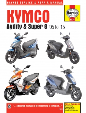 Kymco Agility (05-15) and Super 8 (07-15) Scooters Haynes Repair Manual