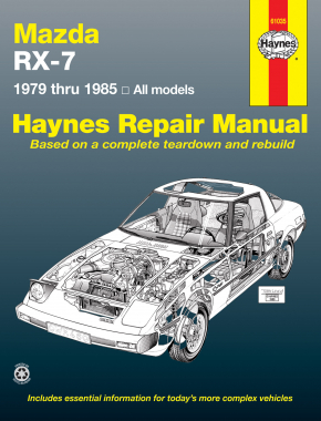 Mazda RX-7 for Mazda RX-7, GS, GSL & GSL-SE (1979-1985) Haynes Repair Manual (USA)