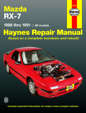Mazda RX-7 for Mazda RX-7 models inc. turbo (1986-1991) Haynes Repair Manual (USA)
