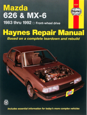 Mazda 626 & MX-6 FWD models (1983-1992) Haynes Repair Manual (USA)