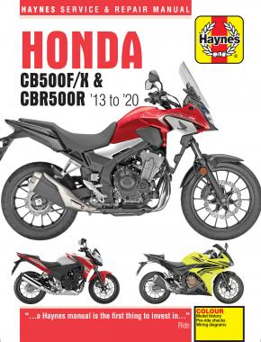 Honda CB500F/X & CBR500R (13-20) Haynes Repair Manual