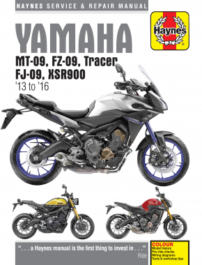 Yamaha MT-09, FZ-09, Tracer FJ-09 & XSR900 (13 - 16) Haynes Repair Manual