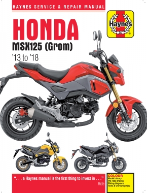 Honda MSX125 Grom (13-18) & MSX125A Grom (17-18) Haynes Repair Manual --COMING SOON--