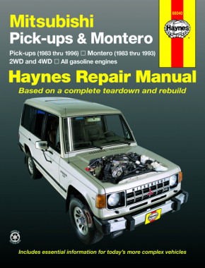 Mitsubishi & Montero 2WD & 4WD petrol pick-ups (1983-1996) Haynes Repair Manual (USA)
