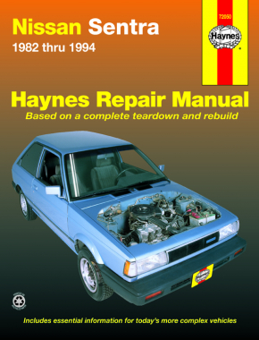 Nissan Sentra Sedan, Coupe, Wagon petrol (1982-1994) Haynes Repair Manual (USA)