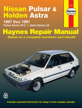 Nissan Pulsar (87-91) and Holden Astra (87-89) Haynes Repair Manual