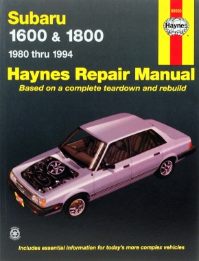 Subaru Subaru 1600, 1600 Hatchback, 1800, 1800 Hatchback (80-94), Brat Pick-up (81-82), Loyale (90-94), Station Wagon (84-88) & XT (86-89) Haynes Repair Manual (USA)