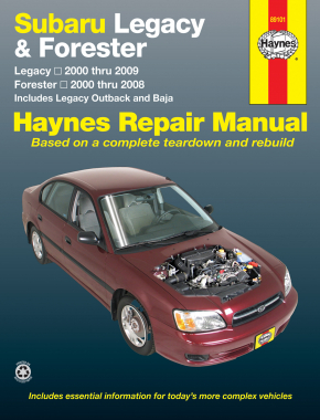 Subaru Legacy & Forester covering Legacy (2000-2009) & Forester (2000-2008), inc. Legacy Outback & Baja Haynes Repair Manual (USA)